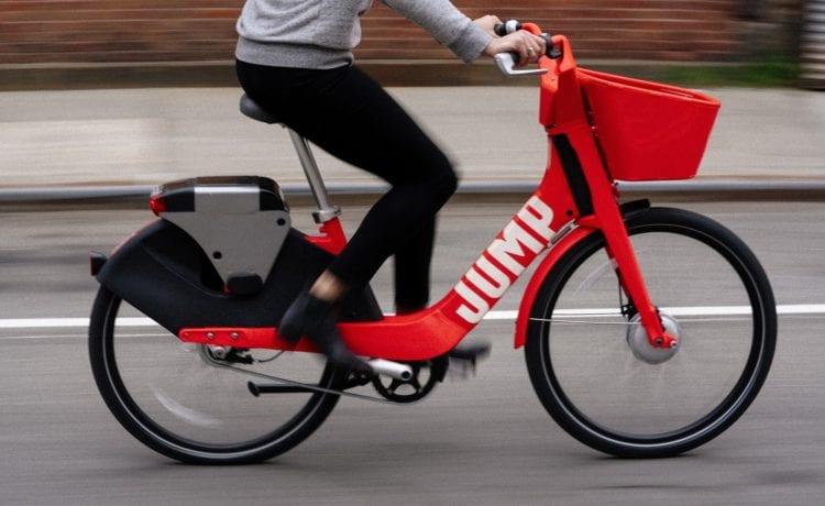 Die auffälligen E-Bikes von Jump gehören zu Uber. Foto: Jump by Uber