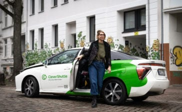 CleverShuttle zieht sich unter anderem aus Hamburg zurück. Foto: CleverShuttle