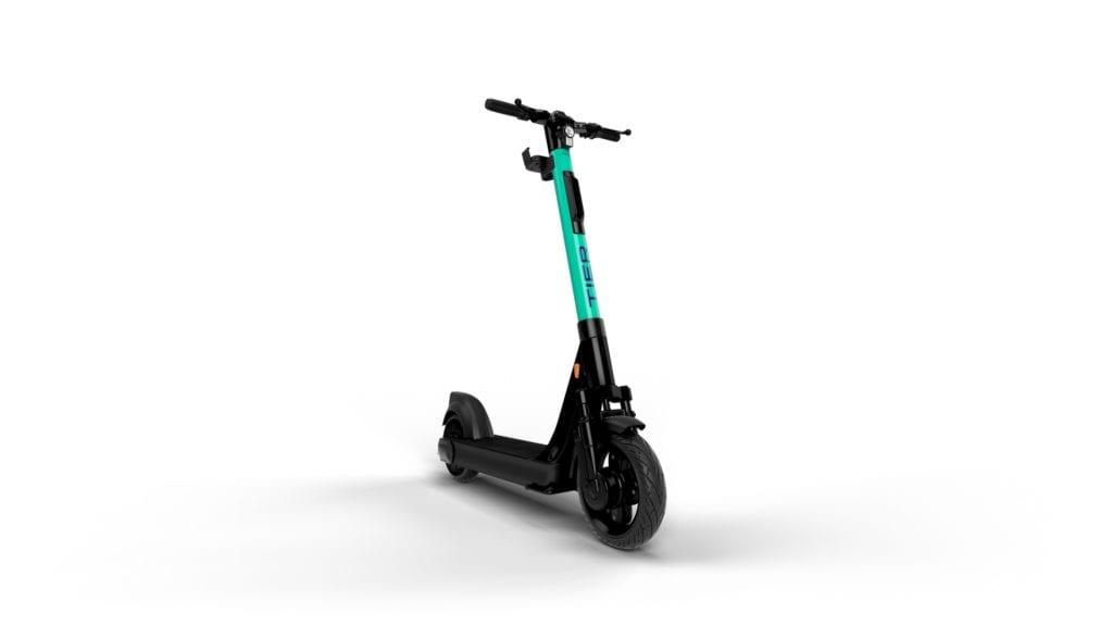 So sehen sie aus die neuen E-Scooter mit austauschbarem Akku. Foto: Tier Mobility