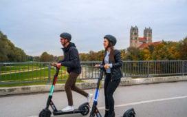 Dott hat seine E-Scooter in München gestartet. Foto: Dott