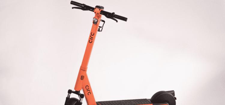 Der neue E-Scooter von Circ hat eine auswechselbare Batterie. Foto: Circ