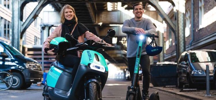 Tier will künftig E-Scooter und die ehemaligen E-Mopeds von Coup in seiner App anbieten. Foto: Tier Mobility