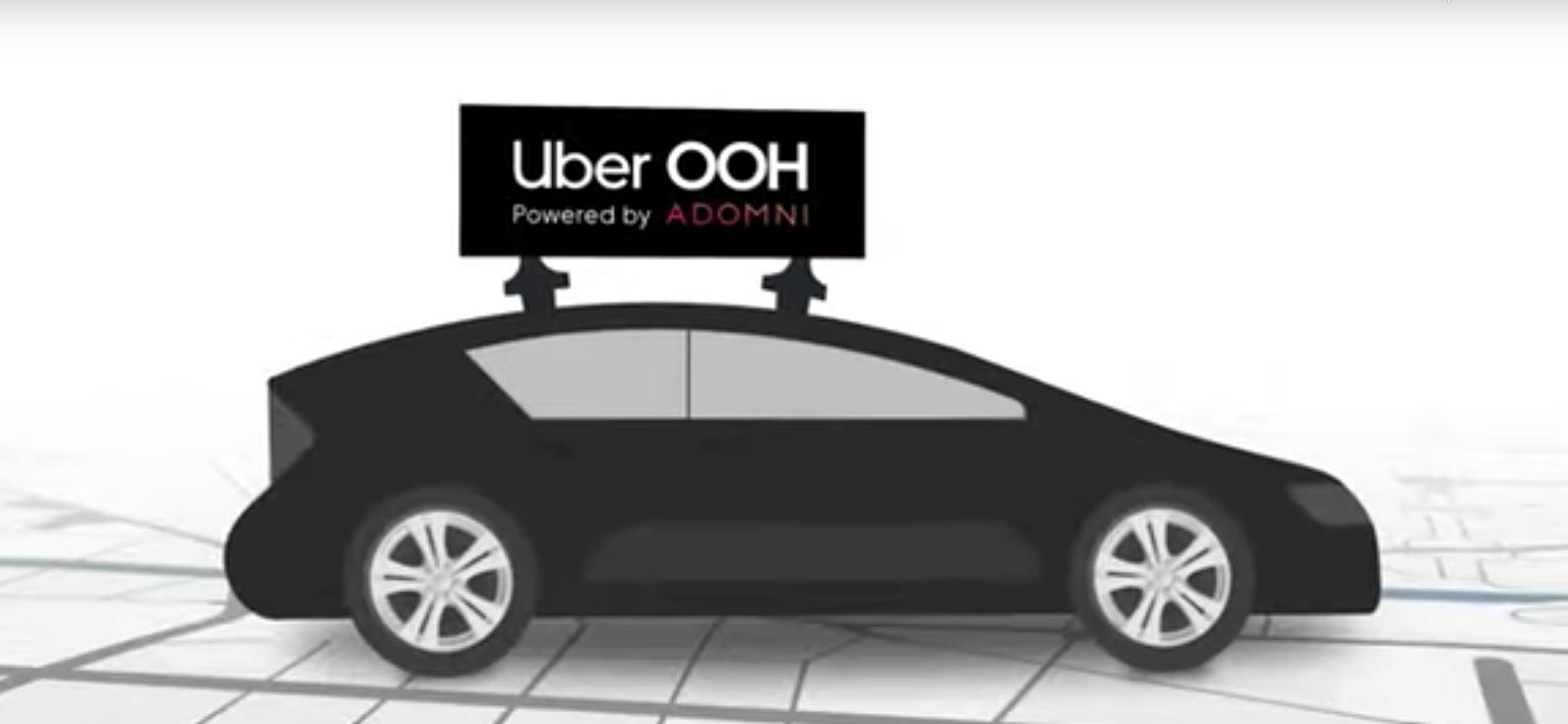 So soll die Werbung auf den Uber-Autos aussehen. Screenshot: https://youtu.be/sHaRJMNJ7EE
