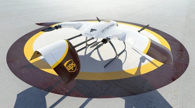 Eine Wingcopter-Drohne von UPS. Credit: UPS