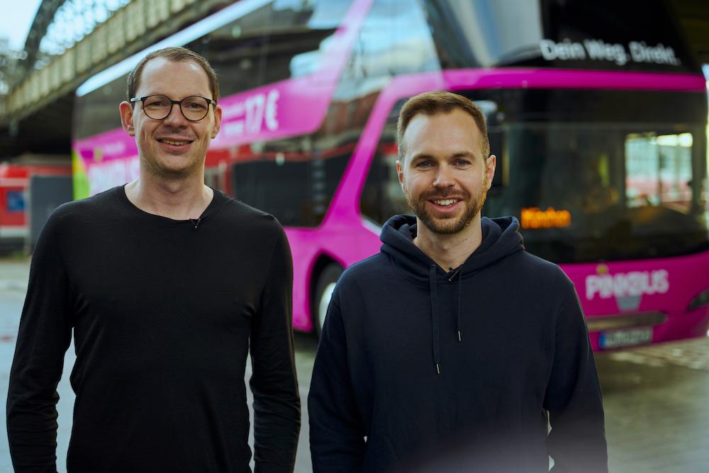 Tino Engelmann und Christian Höber koordinieren die gemeinsame Zukunft. Credit: Pinkbus