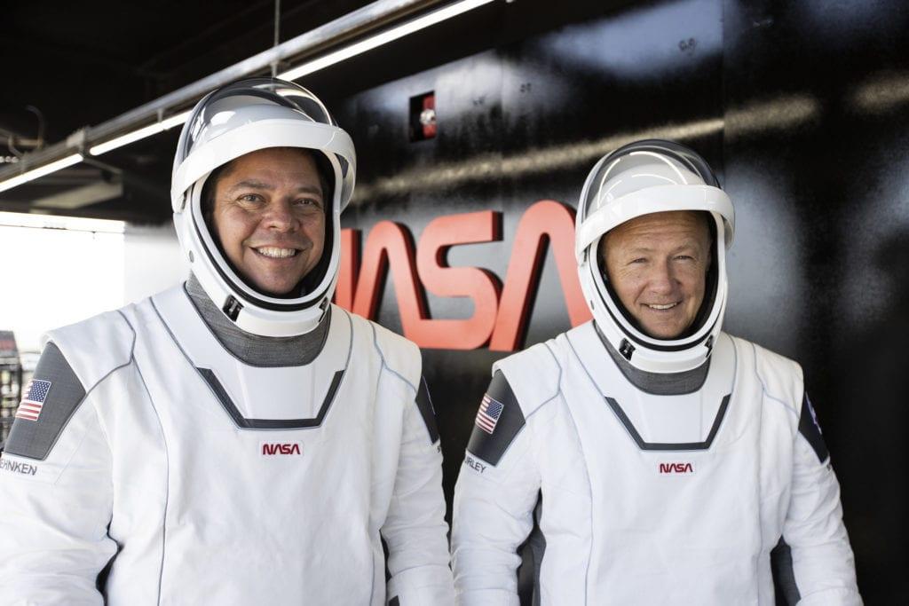 Die Nasa-Astronauten Bob Behnken und Doug Hurley. Foto: SpaceX
