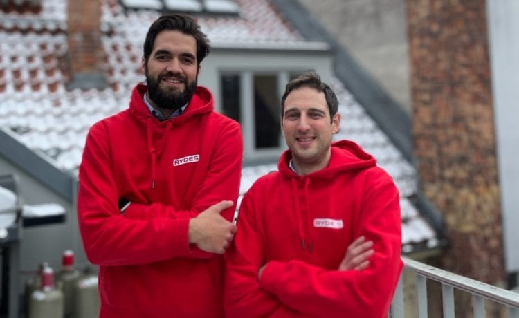 Rydes-Gründer René Braun (links) und Martin Miodownik. Foto: Rydes
