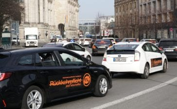 Demonstration der Mietwagenunternehmen in Berlin. Foto: wirfahren